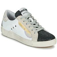 Sko Dame Lave sneakers Meline NKC139 Hvid / Glitter / Sort