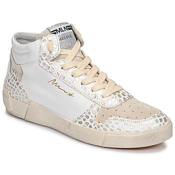 Sko Dame Høje sneakers Meline NK1409 Hvid / Kroko