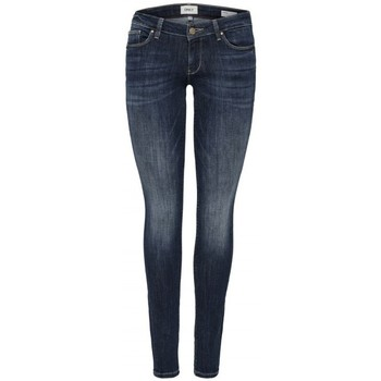 textil Dame Jeans - skinny Only ONLCAROL LOW 15182381 Blå