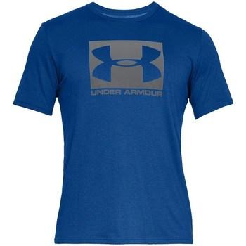 textil Herre T-shirts m. korte ærmer Under Armour Boxed Sportstyle Blå