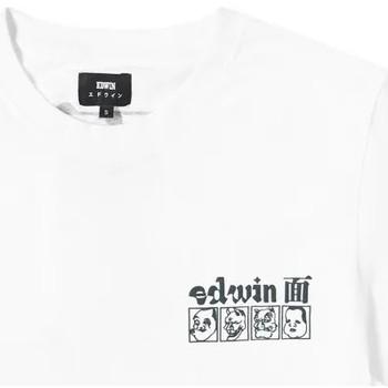 textil Herre T-shirts m. korte ærmer Edwin T-shirt  Hokusai Noh Masks blanc/noir