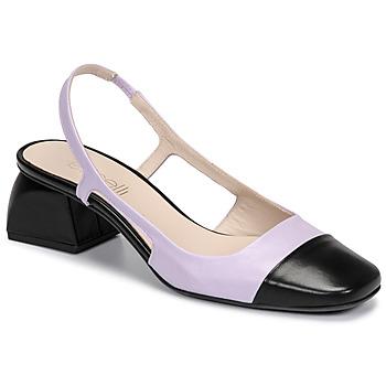 Sko Dame Højhælede sko Fericelli TIBET Violet / Sort