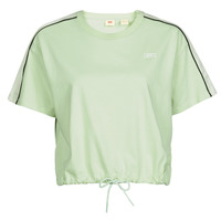 textil Dame T-shirts m. korte ærmer Levi's GINGER NYLON PIECED TEE BOK CHOY, TOFU & CAVIAR Hvid