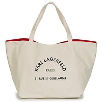 Tasker Dame Shopping Karl Lagerfeld RUE ST GUILLAUE CANVAS TOTE Beige