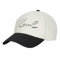 Accessories Dame Kasketter Karl Lagerfeld NEW SIGNATURE CAP Sort / Beige