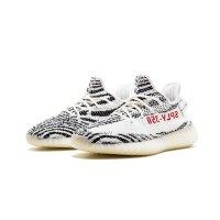 Sko Lave sneakers adidas Originals Yeezy Boost 350 V2 Zebra Ftwr White/Core Black/Red