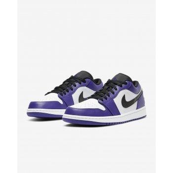 Sko Lave sneakers Nike Air Jordan 1 Low Court Purple Court Purple/White-Black