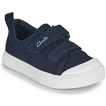 Sko Børn Lave sneakers Clarks CITY BRIGHT T Marineblå