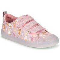 Sko Pige Lave sneakers Clarks FOXING PRINT T Pink