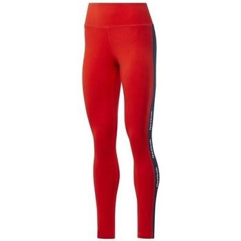 textil Dame Leggings Reebok Sport TE Linear Logo CT L Rød