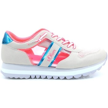 Sneakers S.Oliver  Off White Pink Flat Shoes