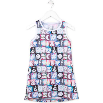 textil Pige Korte kjoler Losan 714 7001AB Lyserød