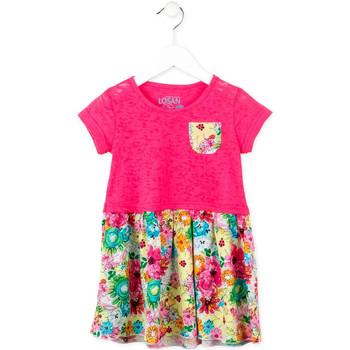 textil Pige Korte kjoler Losan 716 7017AD Lyserød