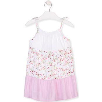 textil Pige Korte kjoler Losan 016-7030AL hvid