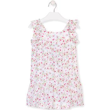textil Pige Korte kjoler Losan 016-7031AL hvid