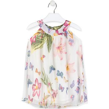 textil Pige Korte kjoler Losan 016-7793AL hvid