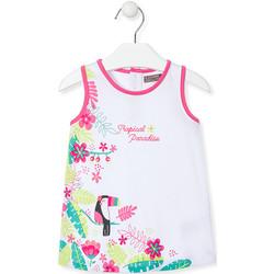 textil Pige Korte kjoler Losan 018-7005AL hvid