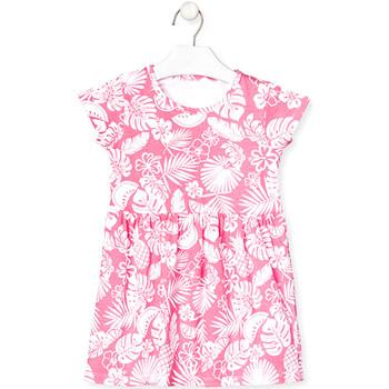 textil Pige Korte kjoler Losan 018-7042AL Lyserød