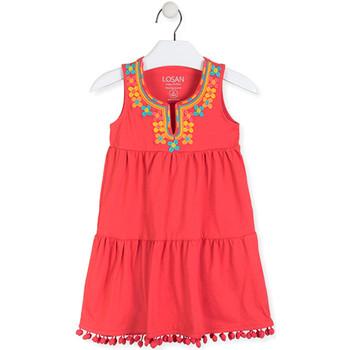 textil Pige Korte kjoler Losan 016-7012AL Rød