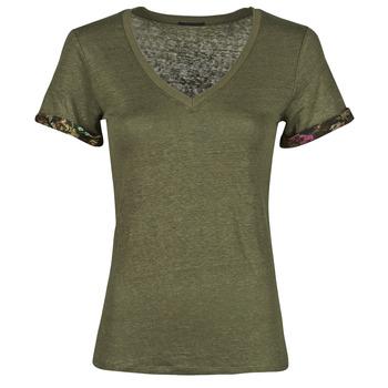 textil Dame T-shirts m. korte ærmer Ikks BS10255-56 Kaki