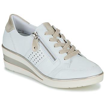Sko Dame Lave sneakers Remonte Dorndorf DORA Hvid / Guld