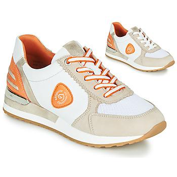 Sko Dame Lave sneakers Remonte Dorndorf POLLUX Hvid / Grå / Orange