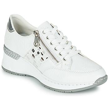 Sko Dame Lave sneakers Rieker GRAMI Hvid