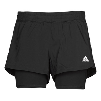 textil Dame Shorts adidas Performance PACER 3S 2 IN 1 Sort