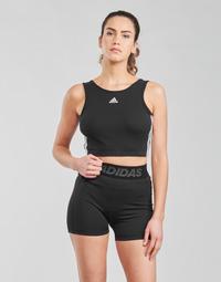 textil Dame Sports-BH adidas Performance W 3S CRO Sort