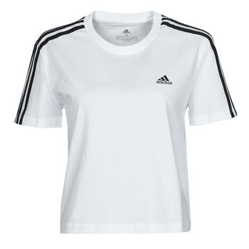 textil Dame T-shirts m. korte ærmer adidas Performance W 3S CRO T Hvid