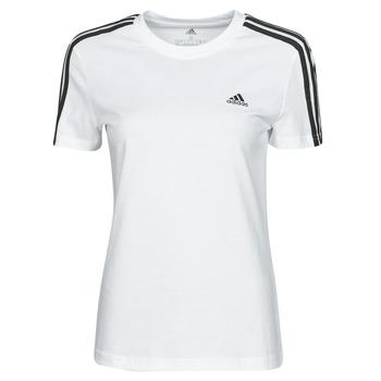textil Dame T-shirts m. korte ærmer adidas Performance W 3S T Hvid