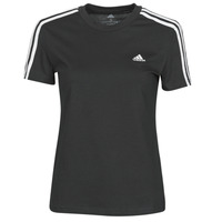textil Dame T-shirts m. korte ærmer adidas Performance W 3S T Sort