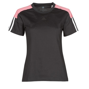textil Dame T-shirts m. korte ærmer adidas Performance W CB LIN T Sort