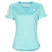 textil Dame T-shirts m. korte ærmer adidas Performance OWN THE RUN TEE Blå