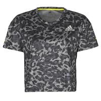 textil Dame T-shirts m. korte ærmer adidas Performance P.BLUE TEE Grå