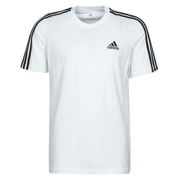 textil Herre T-shirts m. korte ærmer adidas Performance M 3S SJ T Hvid