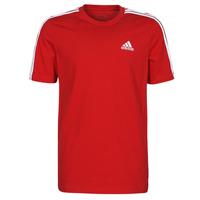 textil Herre T-shirts m. korte ærmer adidas Performance M 3S SJ T Rød
