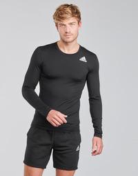 textil Herre Langærmede T-shirts adidas Performance TF LS Sort