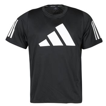 textil Herre T-shirts m. korte ærmer adidas Performance FL 3 BAR TEE Sort