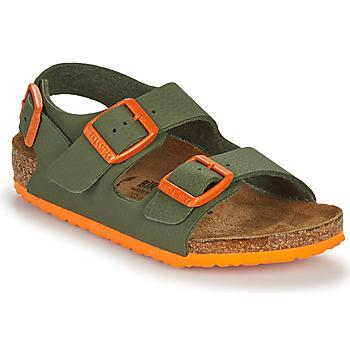 Sko Dreng Sandaler Birkenstock MILANO Kaki / Orange