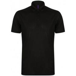 textil Herre Polo-t-shirts m. korte ærmer Henbury HB460 Black