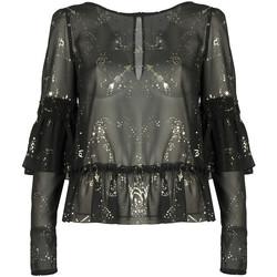textil Dame Toppe / Bluser Patrizia Pepe  Sort
