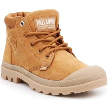 Sko Dame Støvler Palladium Pampa Cuff Lea Brun