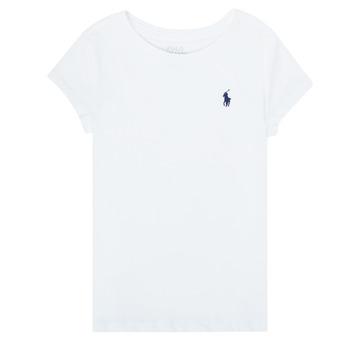 textil Pige T-shirts m. korte ærmer Polo Ralph Lauren ZALLIE Hvid