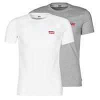 textil Herre T-shirts m. korte ærmer Levi's 2PK CREWNECK GRAPHIC Hvid