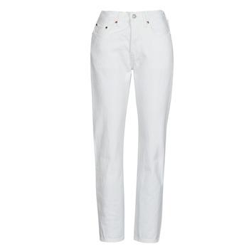 textil Dame Jeans - boyfriend Levi's 501 CROP Hvid