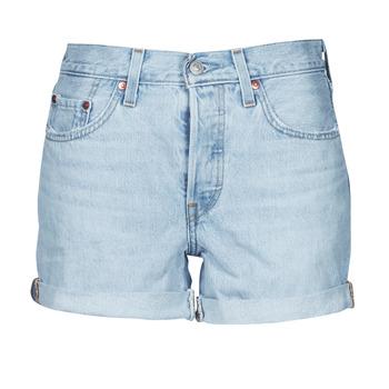 textil Dame Shorts Levi's 501 ROLLED SHORT Blå
