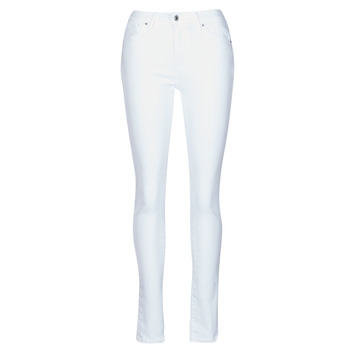 textil Dame Jeans - skinny Levi's 721 HIGH RISE SKINNY Hvid
