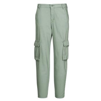 textil Dame Cargo bukser Levi's LOOSE CARGO Grå / Grøn