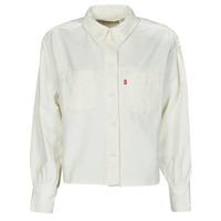 textil Dame Skjorter / Skjortebluser Levi's ZOEY PLEAT UTILITY SHIRT Hvid